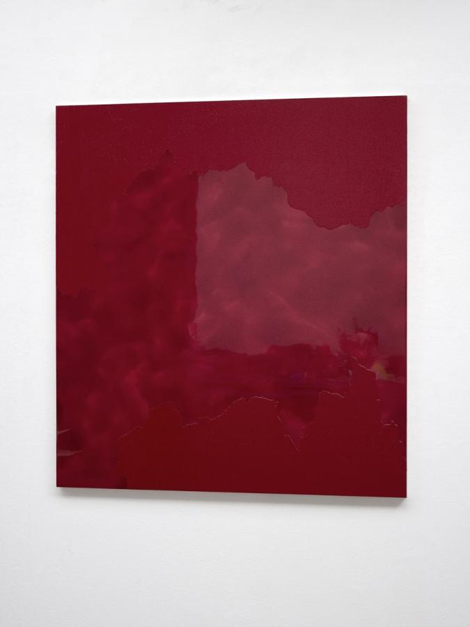Raymund Kaiser, RO-H2, 2016, Öl, Lack, HDF-Schichtplatte, 110 x 100 cm, Galerie Floss & Schultz