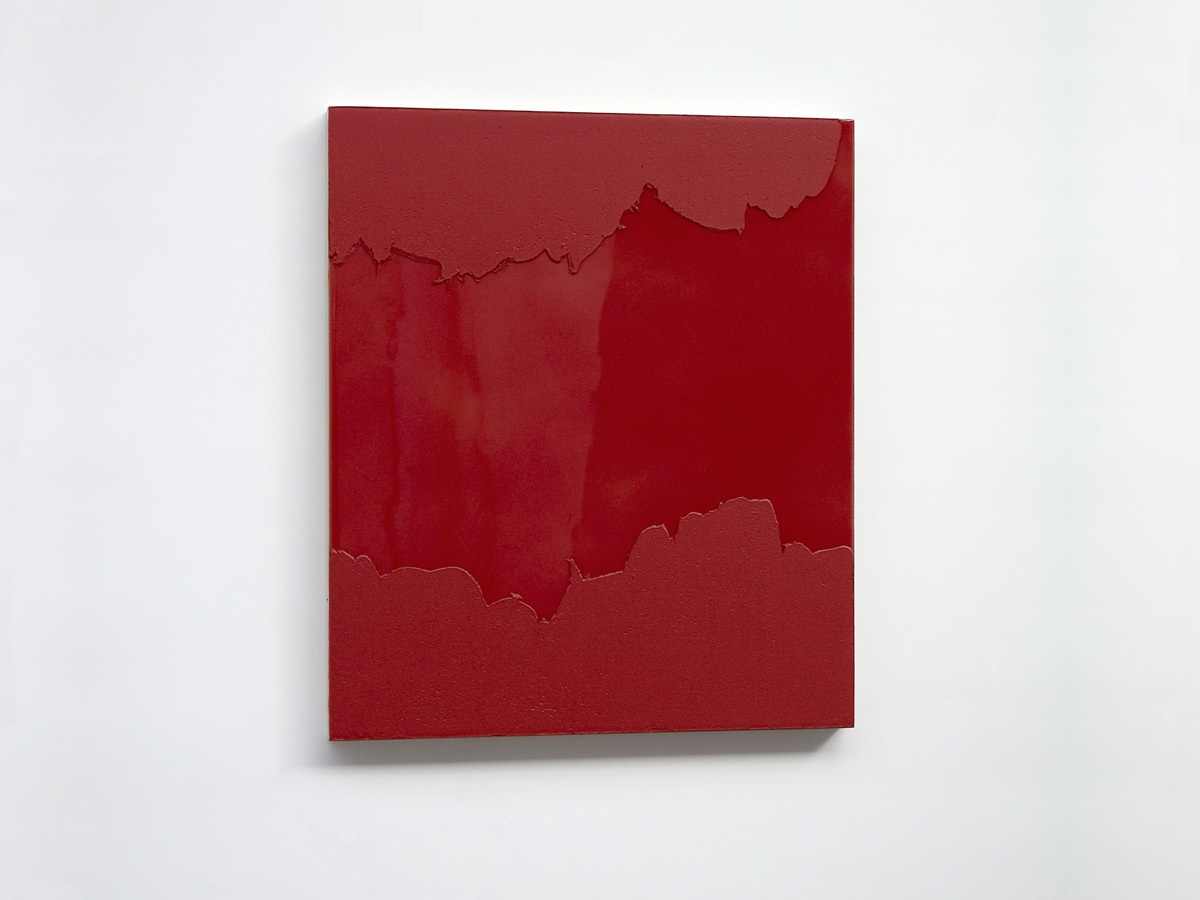 Raymund Kaiser, RO-H1, 2016, Öl, Lack, MDF, 35 x 30 cm