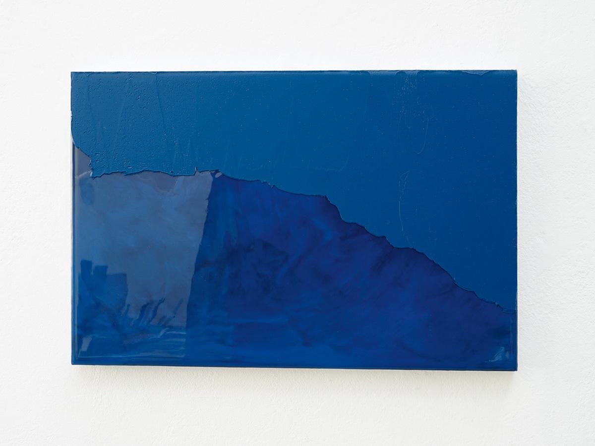Raymund Kaiser, BL-H11 (181217) 2017, Öl, Lack, MDF, 26 x 39 cm