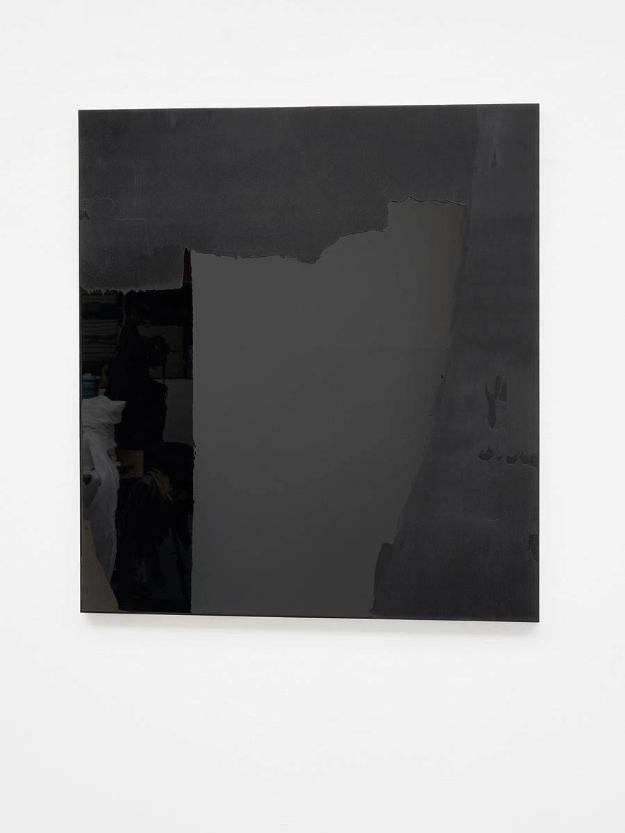 Raymund Kaiser, BLSCH-H4 (160717) 2017, Öl, Lack, HDF-Schichtplatte, 100 x 90 cm