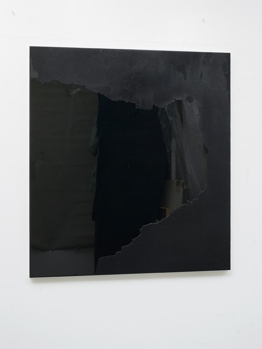 Raymund Kaiser, GRUEBLSCH-H1 (280317) 2017,  Öl, Lack, HDF-Schichtplatte, 110 x 100 cm,  Galerie Floss & Schultz