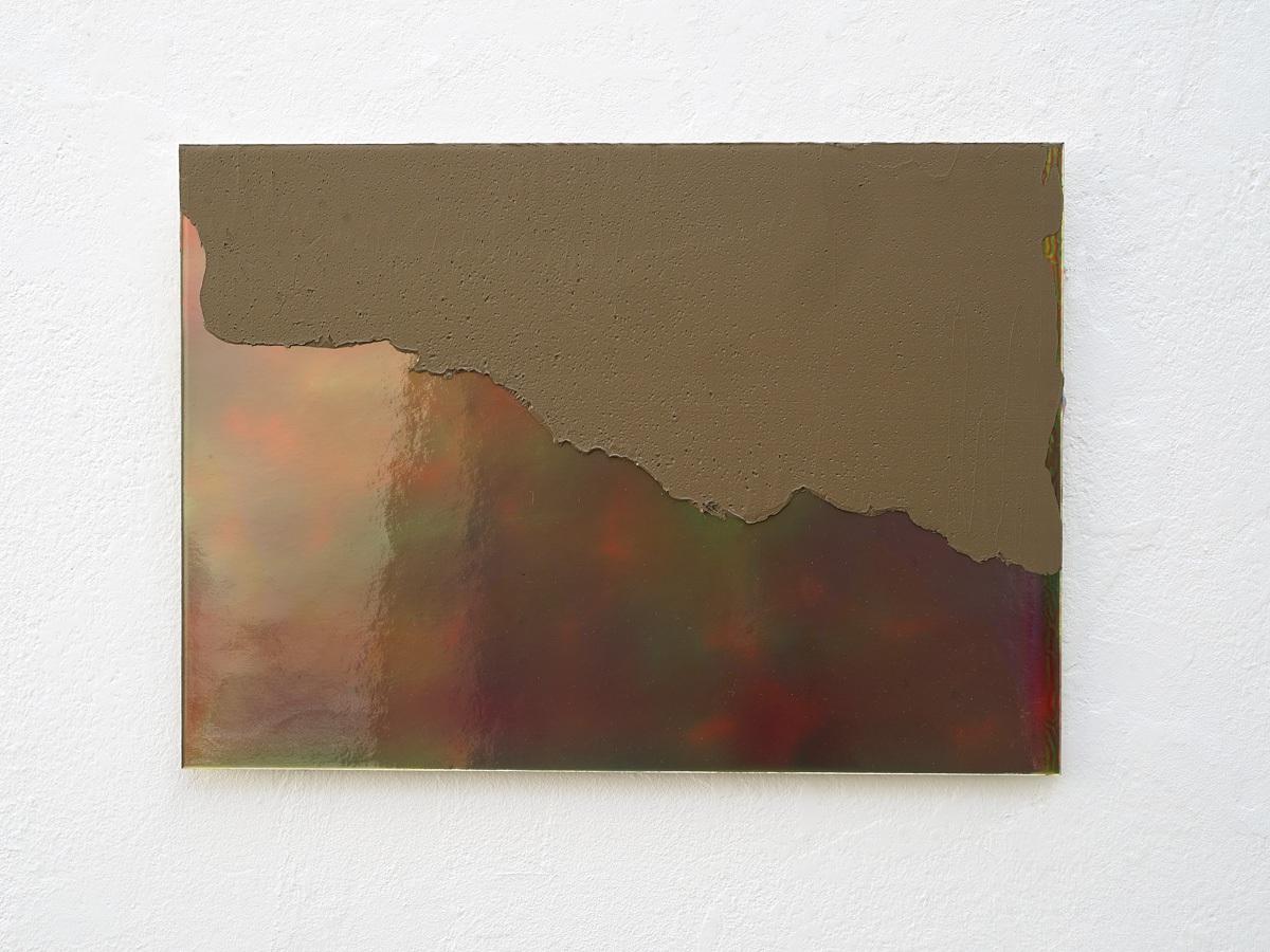 Raymund Kaiser, OCK-H8 (031117) 2017,  Öl, Lack, Spiegelkarton, PVC-Platte, 25 x 35 cm