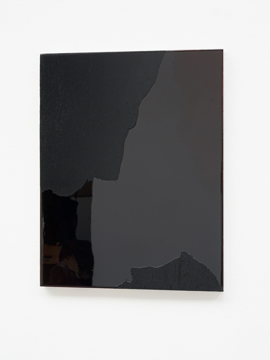 Raymund Kaiser, ROBLSCH-H2 (250517) 2017, Öl, Lack, HDF-Schichtplatte, 47 x 37 cm