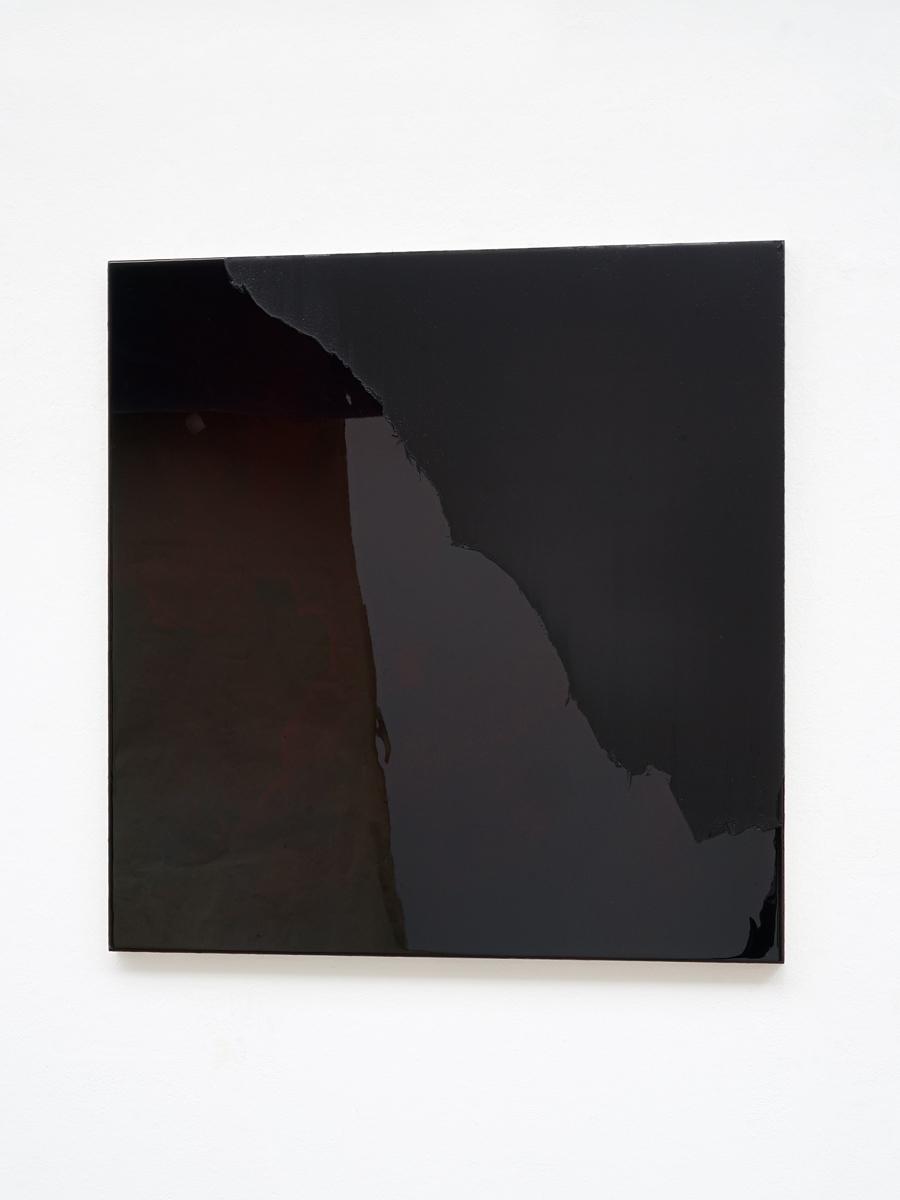 Raymund Kaiser, SCHROBL-H5 (060817) 2017, Öl, Lack, MDF, 70 x 68 cm