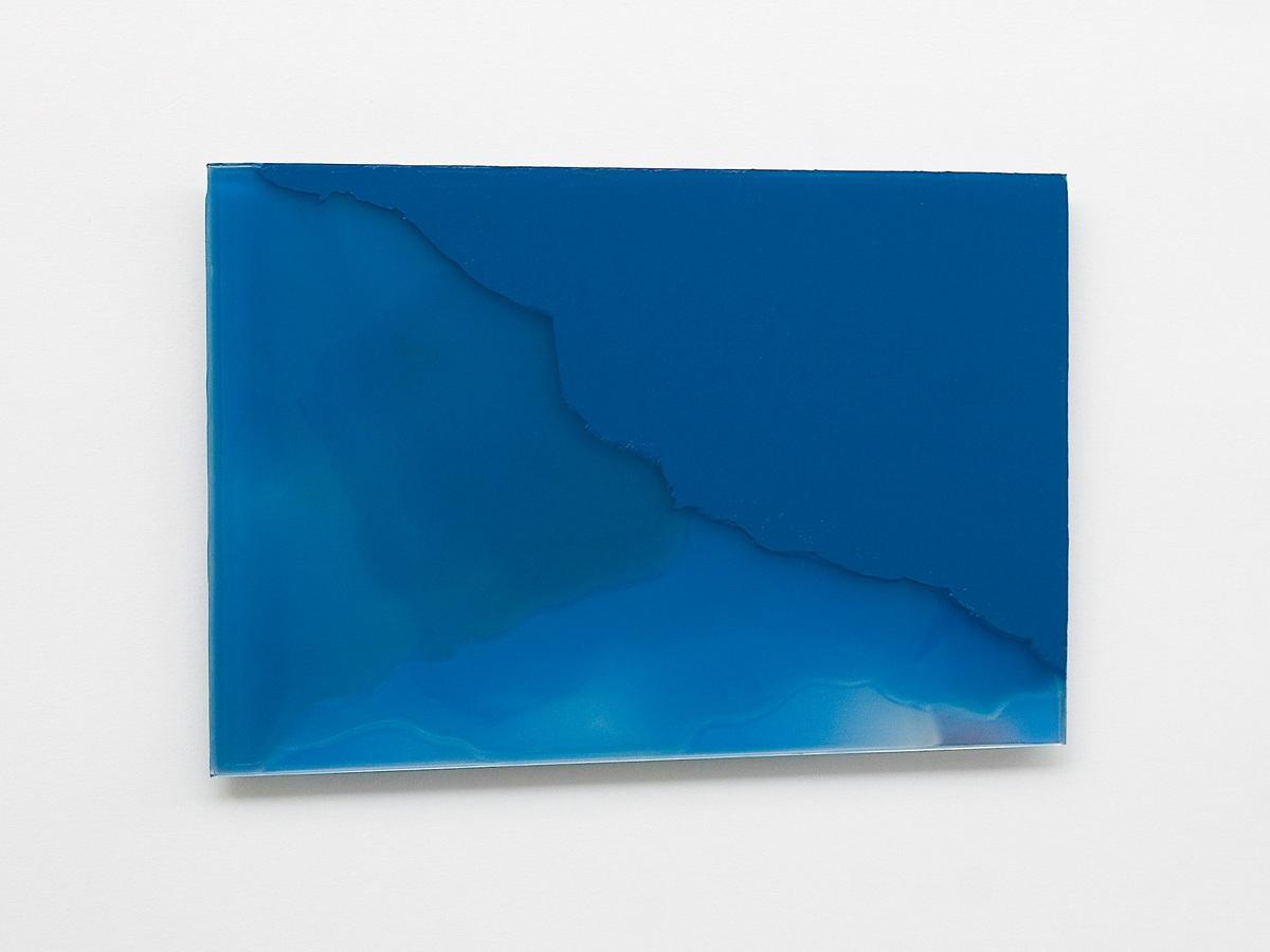 Raymund Kaiser, BL-GSP3 (121018) 2018; Öl, Lack, Glasspiegel, 20 x 30 cm