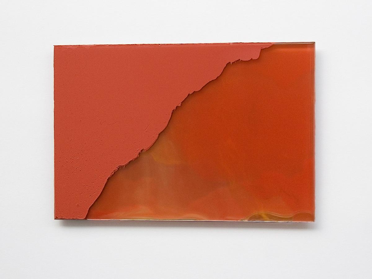 Raymund Kaiser, RO-GSP2, 2019; Öl, Lack, Glasspiegel, 20 x 30 cm