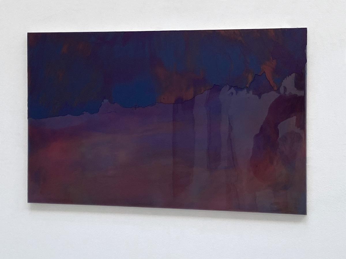 Raymund Kaiser, ROBRD-H2 (090820) 2020; Öl, Lack, MDF, 38,8 x 62,4 cm