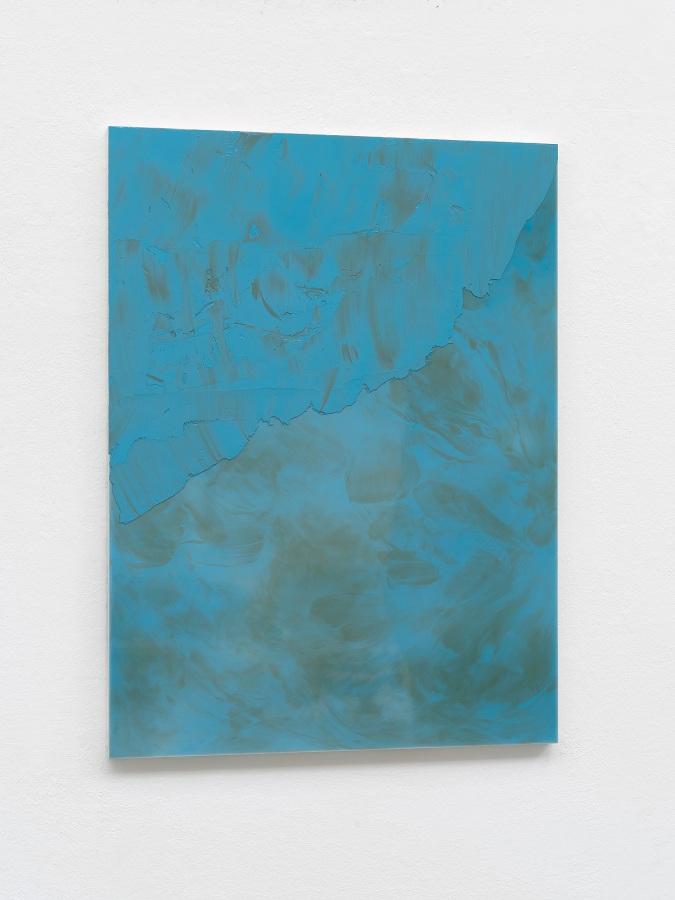 Raymund Kaiser, BL-H4, 2021, Öl, Lack, MDF, 70 x 52 cm