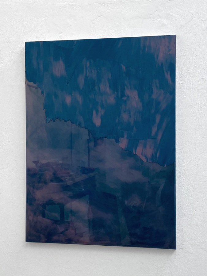 Raymund Kaiser, BLROS-H1, 2021, Öl, Lack, MDF, 70 x 52 cm
