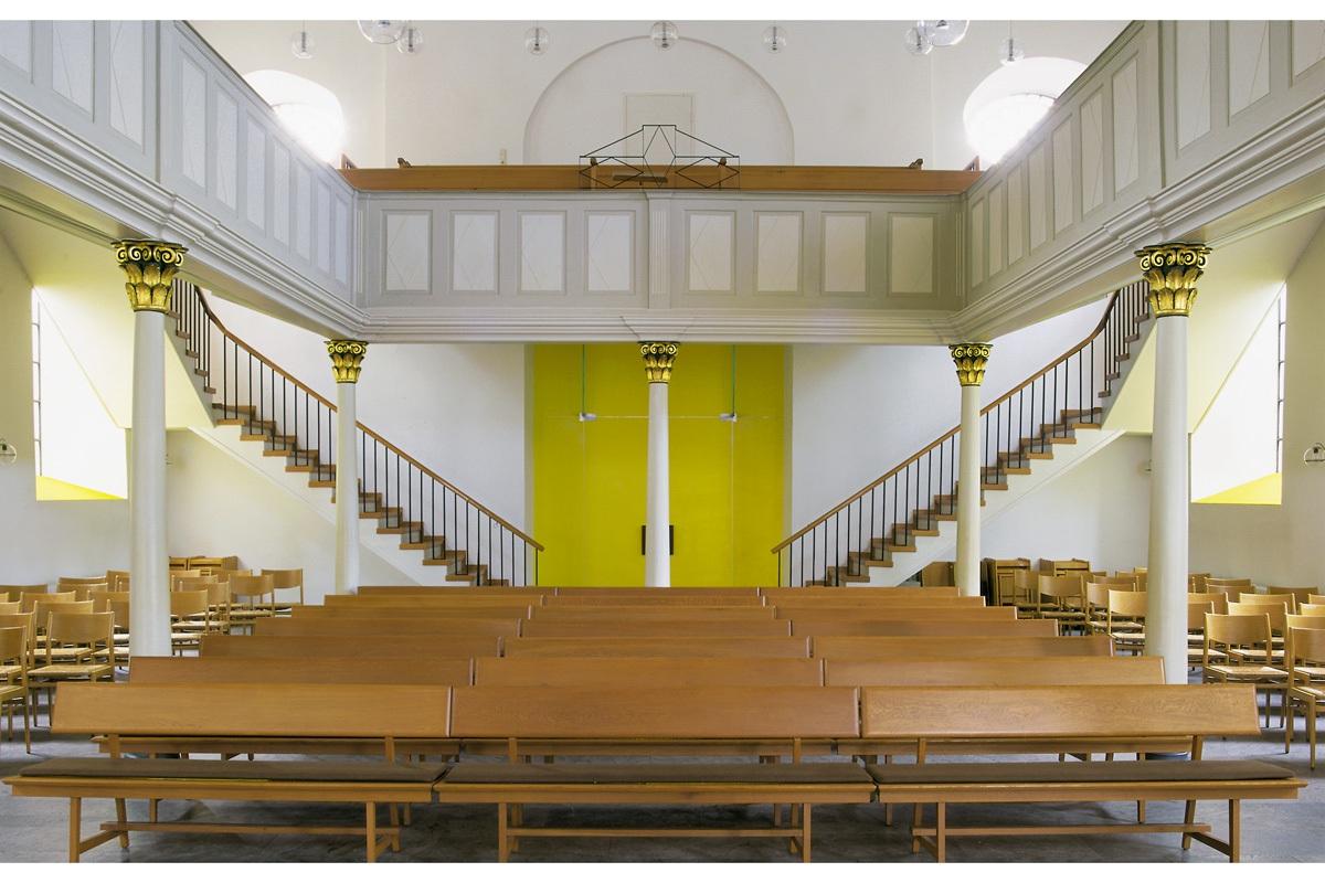 Raymund Kaiser, Farbrauminstallation , Ev.-ref. Kirche Radevormwald, 1998