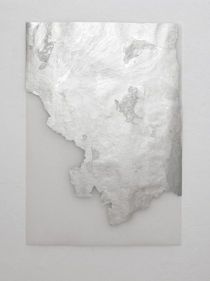 Raymund Kaiser, TransMark01 (100819) 2019; Lackmarker, Transparentpapier, 100 x 70 cm