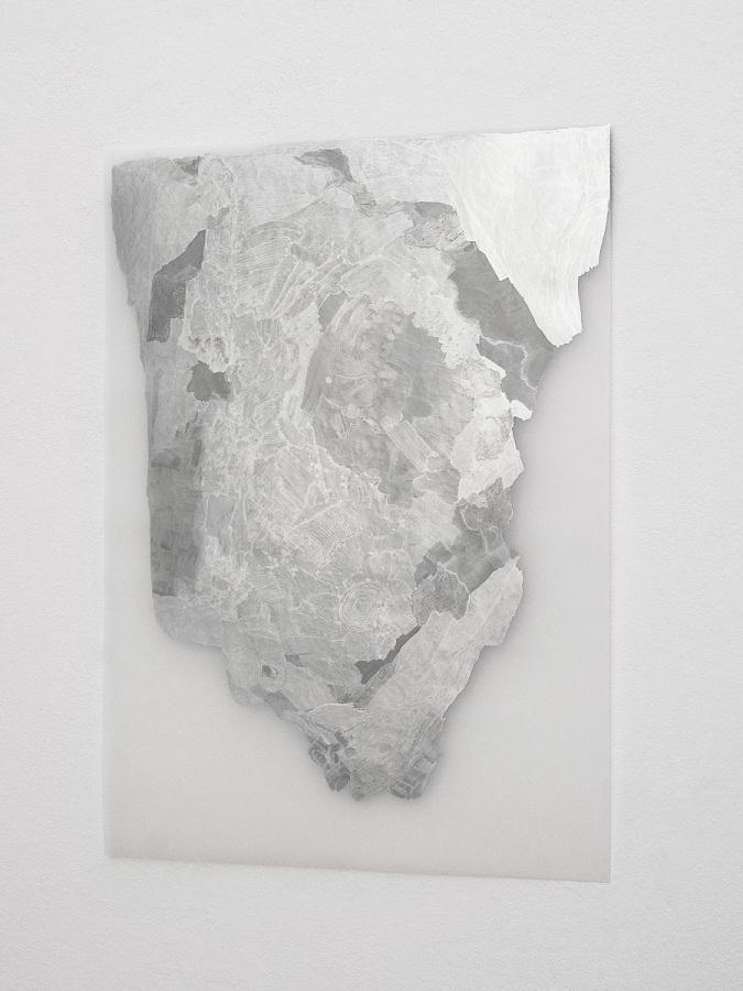 Raymund Kaiser, TransMark02 (160819) 2019; Lackmarker, Transparentpapier, 70 x 50 cm