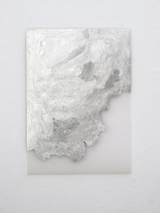 Raymund Kaiser, TransMark03 (220819) 2019; Lackmarker, Transparentpapier, 70 x 50 cm