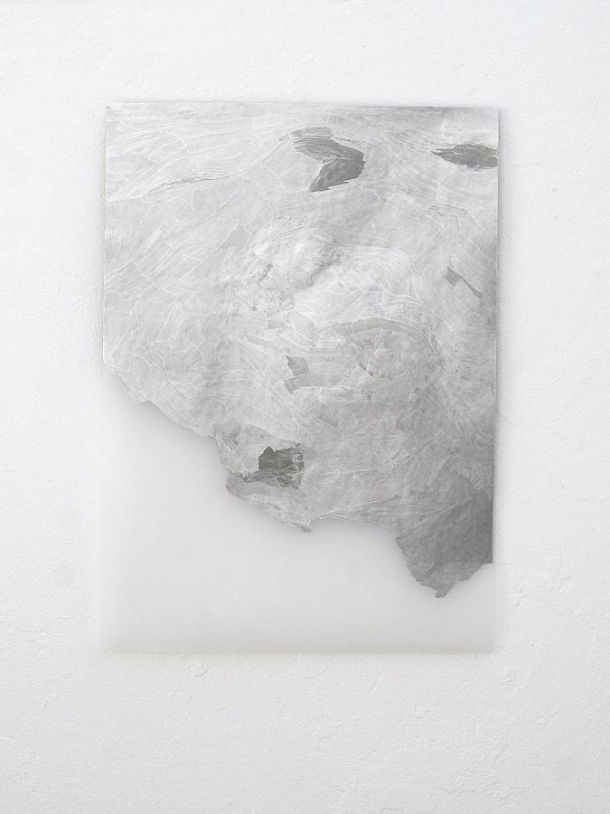 Raymund Kaiser, TransMark04 (150819) 2019; Lackmarker, Transparentpapier, 70 x 50 cm
